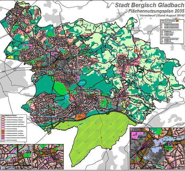 Der Vorentwurf für den neuen Flächennutzungsplan Bergisch Gladbach - Belehrungen statt Informationen (oder gar Optionen)