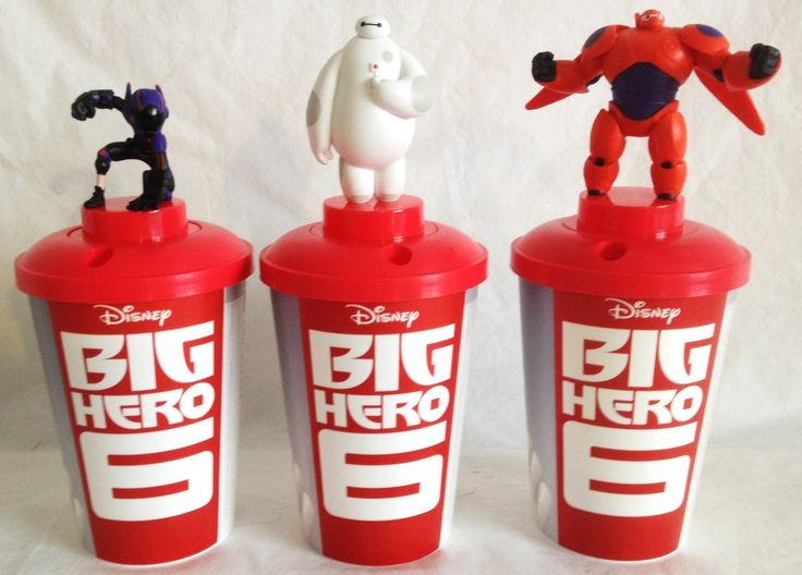 Star Force collectibles - Big Hero Six Movie Theater Exclusive Cup Topper Set with Cups, $24.99 (http://www.starforcecollectibles.com/big-hero-six-movie-theater-exclusive-cup-topper-set-with-cups/)
