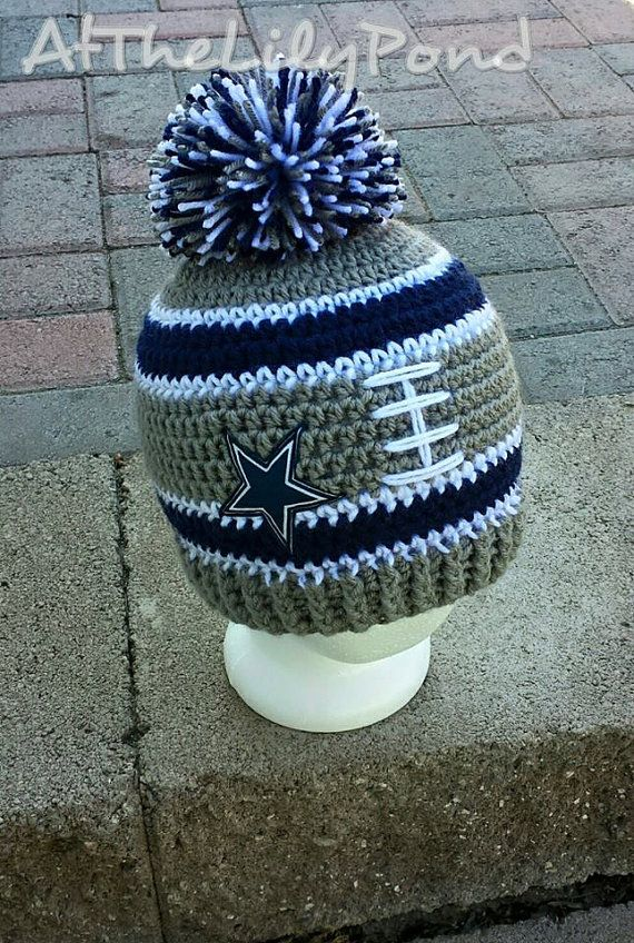 Dallas Cowboys Crochet Hat Dallas Cowboys Beanie by AtTheLilyPond