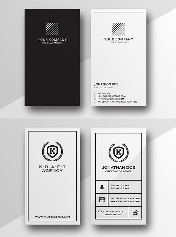 Clean Minimal Business Cards
