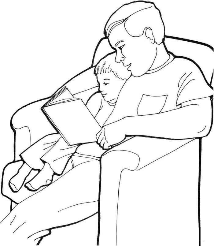 Father And Son Coloring Page