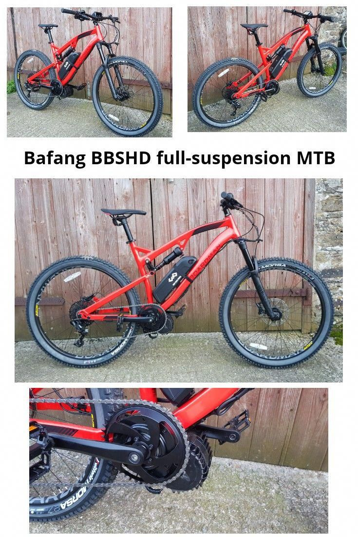 a3a3af427bd Boardman mtr 8.9 full-suspension electric mountain bike DIY conversion  using a Bafang BBSHD mid-drive electric motor with a 52v14ah Lithium  battery pack.