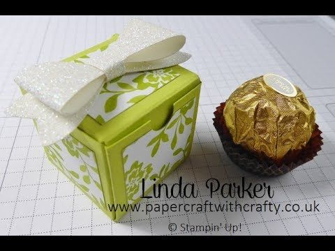 Papercraft With Crafty Tiny No Glue Cubed Box. Fresh Florals and Ferrero Rocher - A match made in heaven !! www.papercraftwithcrafty.co.uk