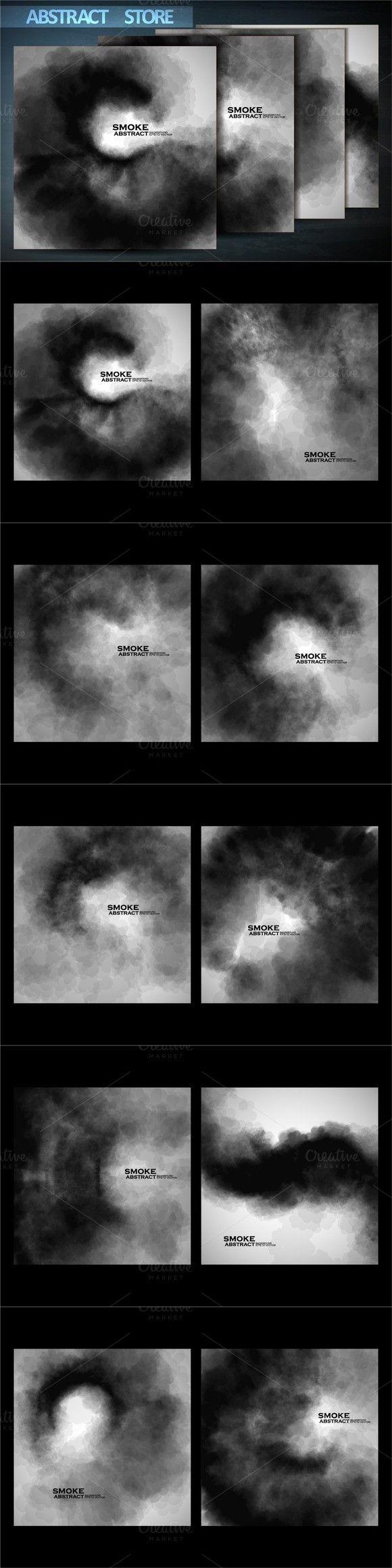 Smoke vector backgrounds. Textures. $3.00
