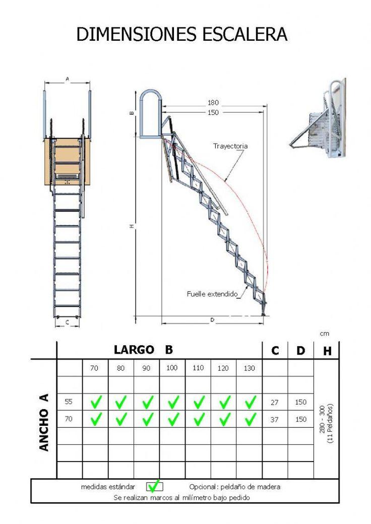 M s de 25 ideas incre bles sobre escalera tijera en - Escalera plegable para altillo ...