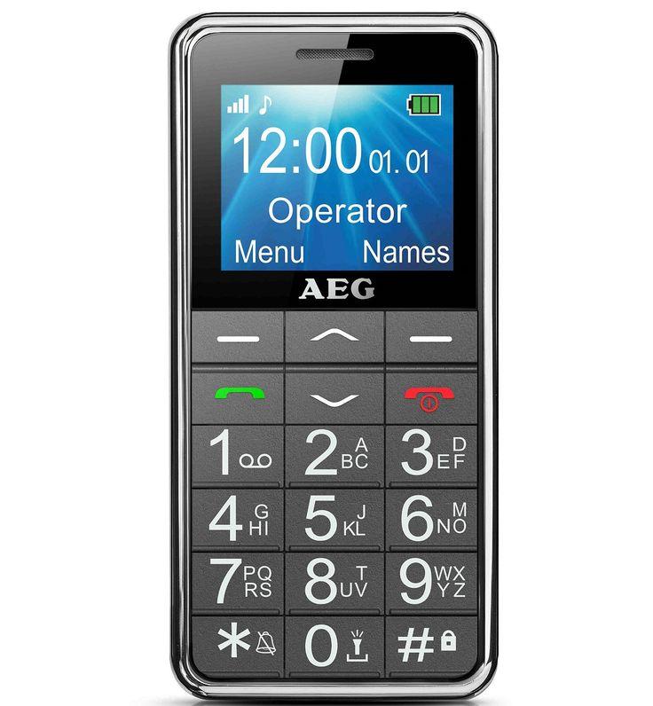"""AEG M250 Telefono con tasti grandi retroilluminati, display LCD DA 1,8"""" ad alto contrasto. Tasto SOS"""