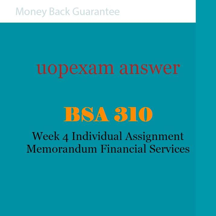 bsa 310 week 1 assignment Bsa 310 week 2 learning team bubble films task list home wish list (0)  bsa 310 week 1 assignment research $700  rating: a purchased: 3 time.