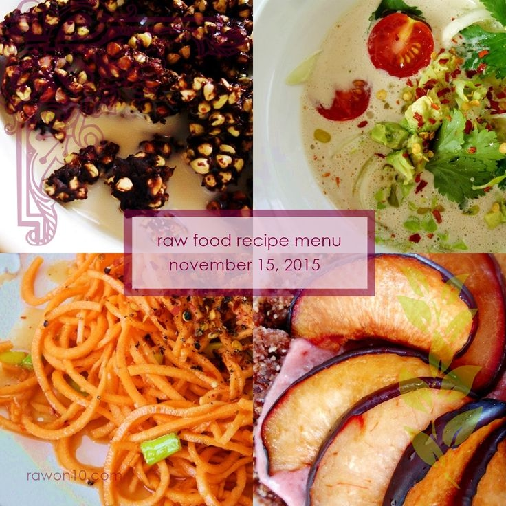 204 best raw on 10 a day raw food recipes images on pinterest raw food recipe menu forumfinder Images