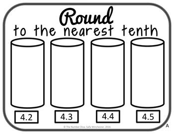 Rounding Sort: Decimal Numbers to the Nearest Tenth, Hundr