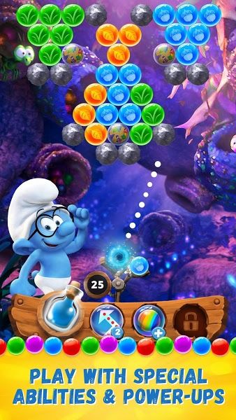 Smurfs Bubble Story v1.0.1914 [Mod]Requirements: 4.0.3 and upOverview: Inspired by the new animated movie, Smurfs: The Lost Village, get ready for the first-ever bubble shooter game from the Smurfs franchise, Smurfs Bubble Story!   	  	Pop matching bubbles and complete missions to collect...