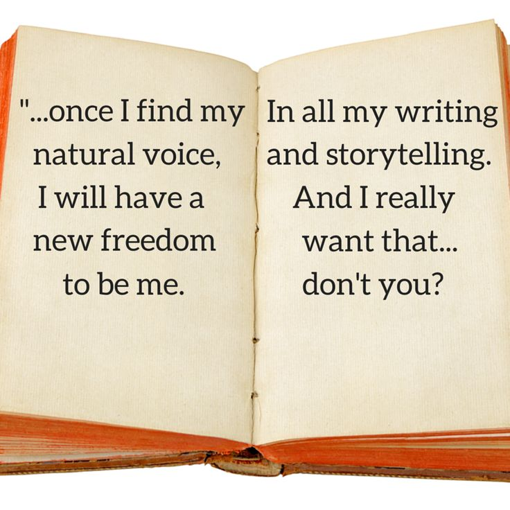 Find Your Natural Writing Voice
