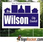 Political Signs: Rocket Fast Campaign Yard Signs http://www.signrocket.com/political-signs.aspx
