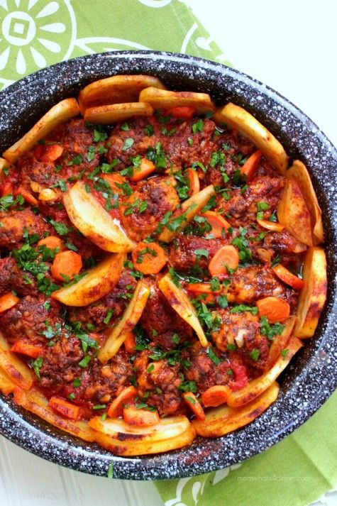 Qofte me Patate - Meatballs with Potatoes