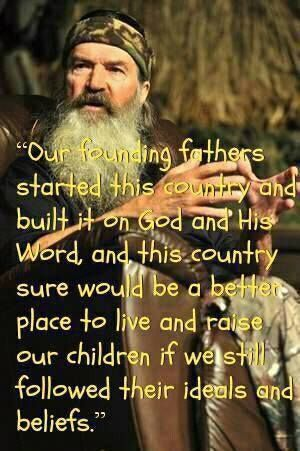 Just keep getting better and better.  Phil Robertson for president 2016!  I'd vote for him!