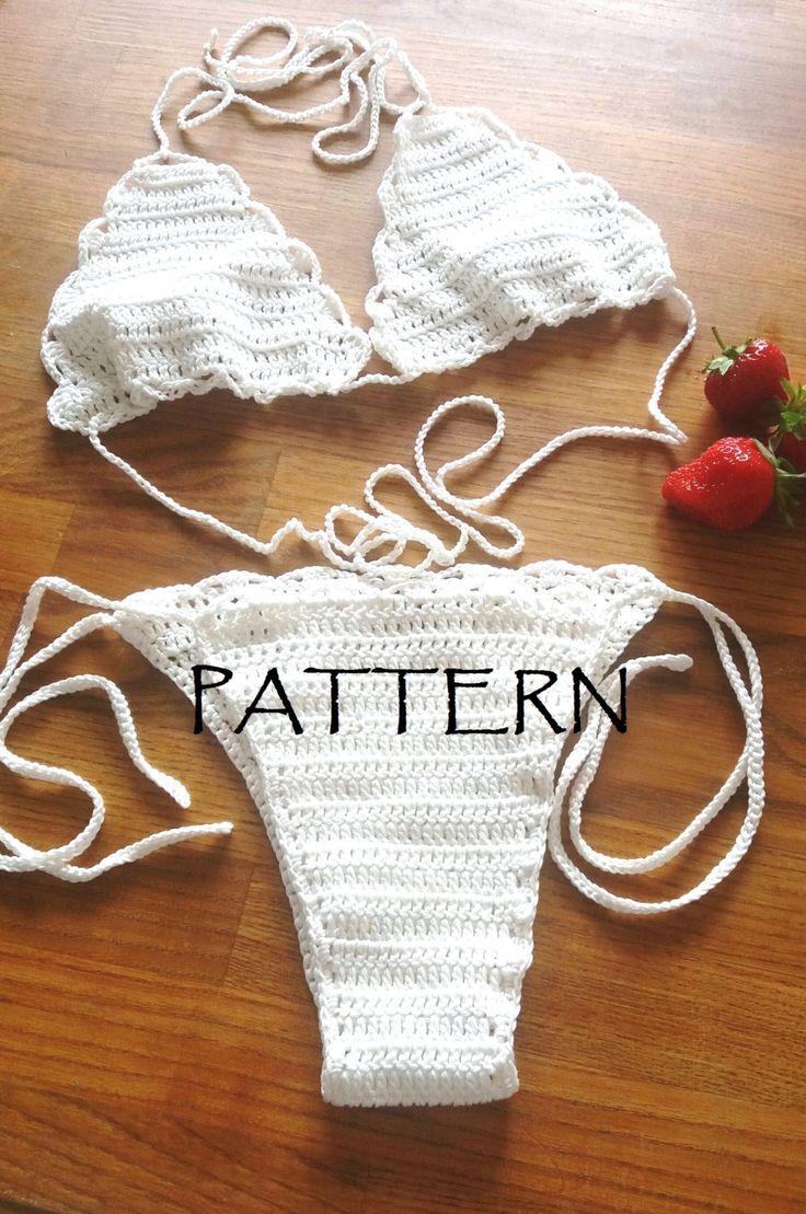 BOHEMIAN Crochet Bikini PATTERN. Crochet Pattern. Tutorial. Bikini.Swimsuit…