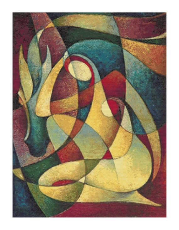 Abstract Cubist Painting unknown painter by Buzzbeedesigns