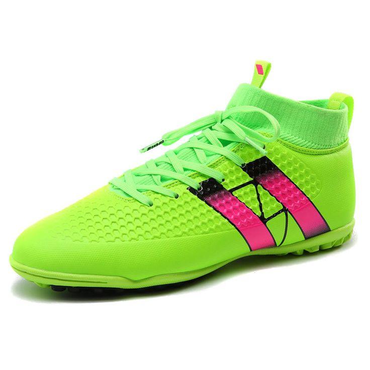 2017 Men Indoor Soccer Shoes High Ankle TF Football Boots Big size Chuteira Futebol Zapatillas De Deporte #Affiliate