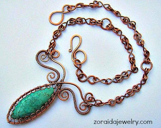 Marquise shaped Turquoise and copper - I loved that one!