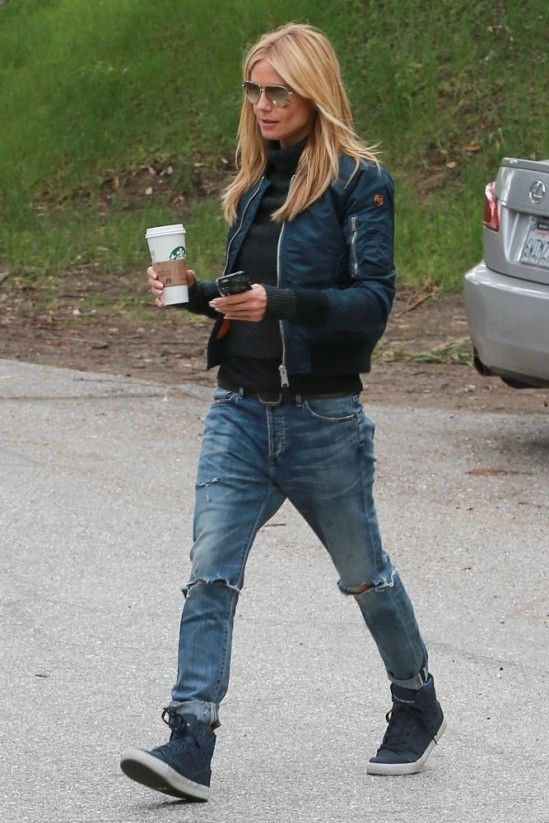 Heidi Klum Soccer Game in Brentwood February 2015   Heidi Klum wearing Citizens of Humanity Corey Straight Leg Jeans in Outpost