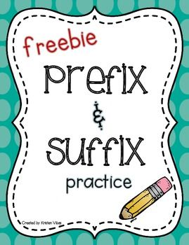 Prefix and Suffix practice worksheets.