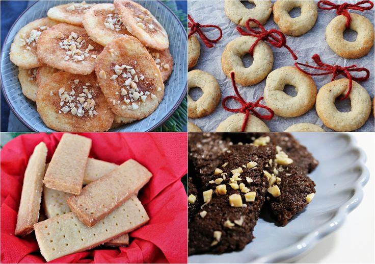 Fem klassiske julesmåkager og gode tips til at bage dem. Få opskriften på jødekager, vaniljekranse, shortbreads, pebernødder og chokoladestænger.