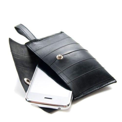 Recycled Tire Cell Phone Case: This would make a great gift for the clumsy…