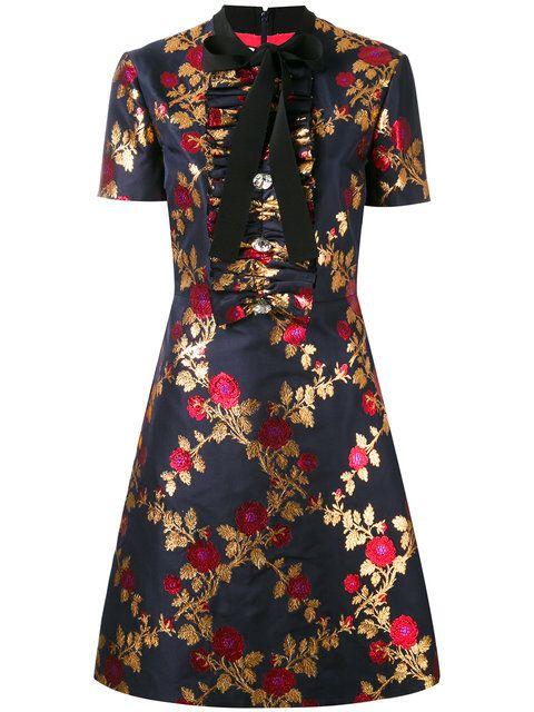Shoppen Gucci Kleid mit Blumen-Print.