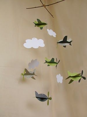 It's so here is hard it is to find cute boy mobiles. So,here is an adorable homemade 3D paper ones!