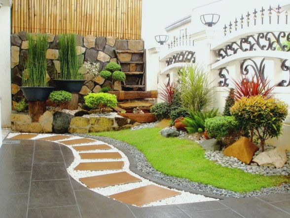 Landscape pictures front house philippines model