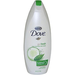 Dove Go Fresh Cool Moisture Body Wash with NutriumMoisture Cucumber & Green Tea Scent 24-ounce