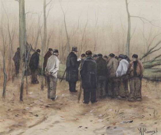 The timber sale by Anton Mauve