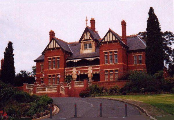 Caloola (Sunbury Training Centre) administration building, later Victoria University office. Now vacant.