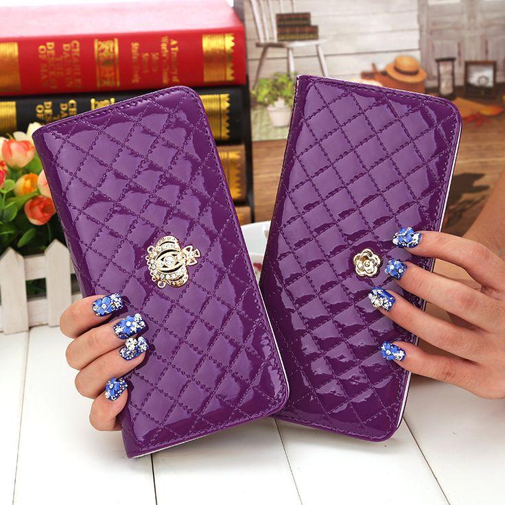 Venta caliente de las mujeres acolchada larga cartera corona monedero Carpetas de las mujeres con bolso de la moneda dólar plum flor bolsa de embrague carteras femeninos precio