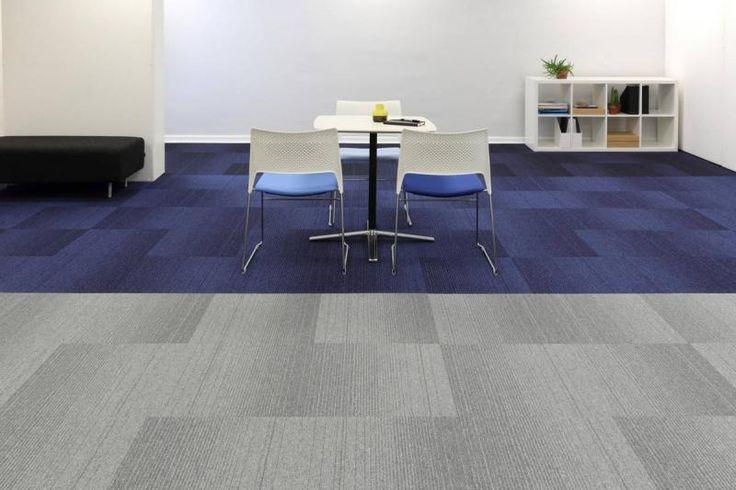 Modré a šedé zátěžové kobercové dílce Burmatex ve tvaru obdélníku 25 x 100 cm. / Blue and Grey Burmatex contract carpet tiles in plank shape 25 x 100 cm.   http://www.bocapraha.cz/cs/produkt/1057/grade/