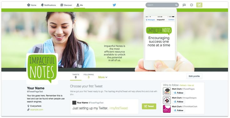 Impactful Notes Twitter Design - by TweetPages.com #TweetPages