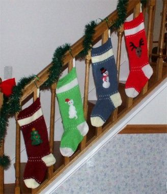 Ravelry: Knitted Christmas Stockings pattern by Joy Green
