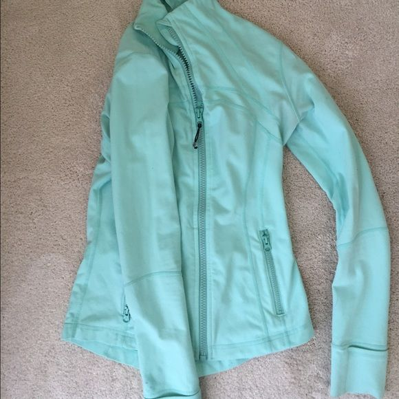 Lululemon define jacket Beautiful Tiffany blue color. Only flaw is small pen dots on one sleeve. inside white skinny tag removed but it's a 6 :) lululemon athletica Jackets & Coats