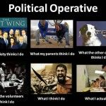 When I am a political consultant.