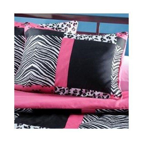 Teen Pink Zebra Bedding. 4 Piece Pink Black and White Bed in a Bag Full Size Set Is Perfect for a Teenage Girl Bedroom. Mini Skull, Zebra, Cheetah Print Patchwork Design. Comforter Blanket Set . http://aluxurybed.com/product/teen-pink-zebra-bedding-4-piece-pink-black-and-white-bed-in-a-bag-full-size-set-is-perfect-for-a-teenage-girl-bedroom-mini-skull-zebra-cheetah-print-patchwork-design-comforter-blanket-set/