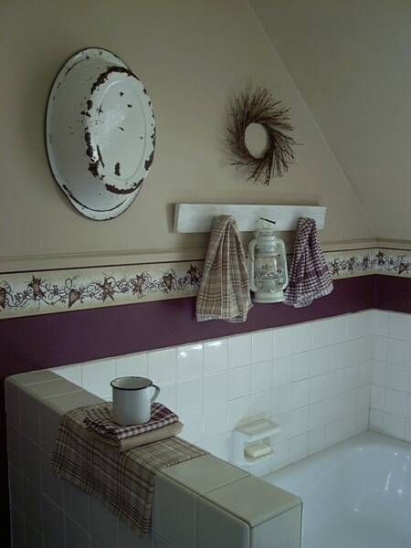 1000 ideas about primitive wallpaper on pinterest - Country wallpaper borders for bathrooms ...