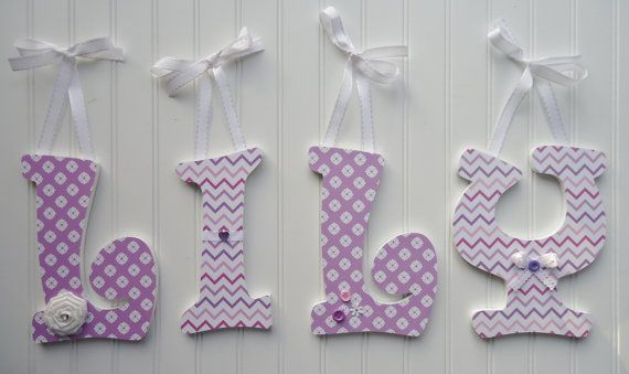 Wall letters nursery wall decor wooden letters by fabbdesigns fabb designs pinterest - Decorative wooden letters for walls ...