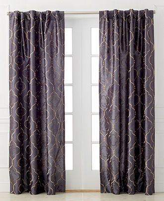 closeout elrene gia embroidered fauxsilk room darkening window collection
