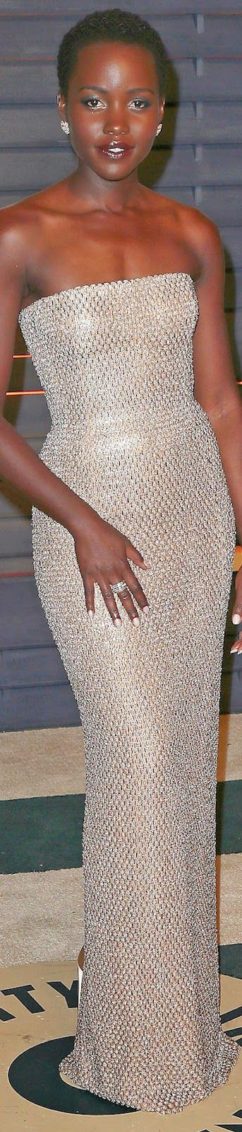 Lupita Nyong'o in Calvin Klein 2015 Vanity Fair Oscar Party | The House of Beccaria~