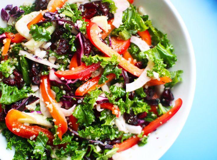 Crunchy Kale Quinoa Salad