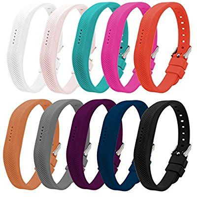 10 Color Bands for Fitbit Flex - Silicone Fitness Replacement Accessories Wrist Band for 2016 Fit bit Flex2