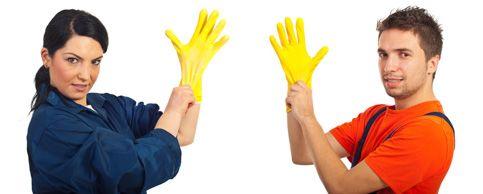 Brugen af handsker