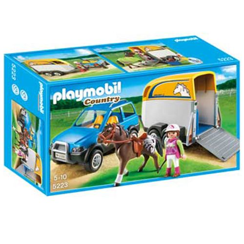 Playmobil® SUV with Horse Trailer 5223 at Creative Kidstuff