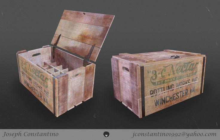 Wooden Crate, Joseph Constantino on ArtStation at…