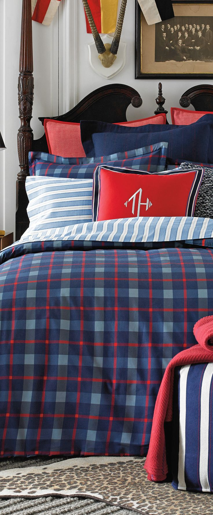 Nfl bedding for boys - Tommy Hilfiger Boston Plaid Bedding