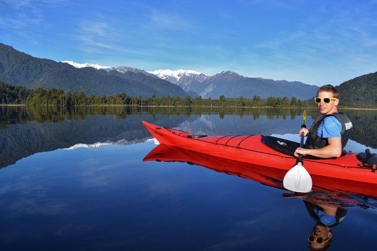 Enjoying the view, Lake Mapourika